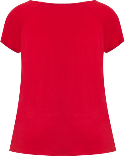 blusa feminina manga curta em malha viscose e crepe estampa ancora seiki 231591