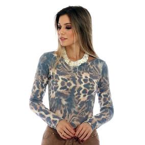 95e476940 Blusa Com Estampa De Onça - Blusas Feminino no Mercado Livre Brasil