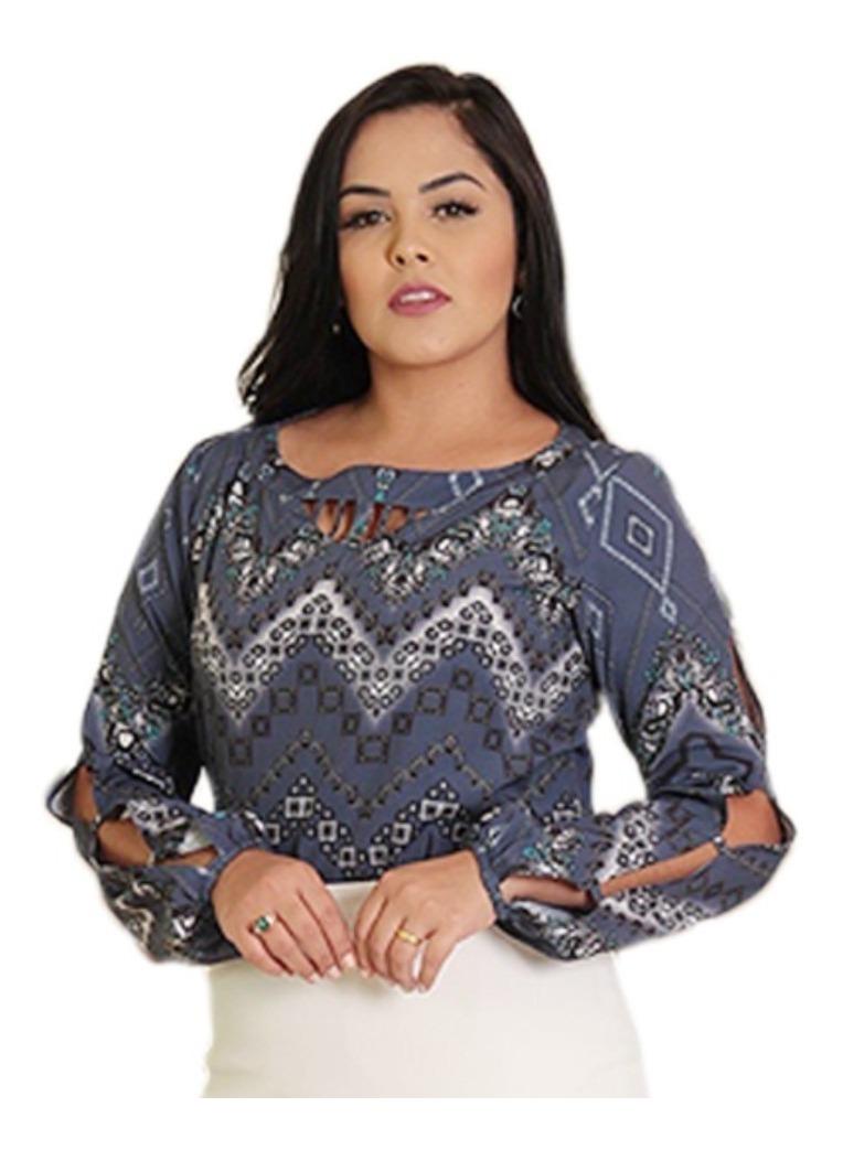 f11a92c98c blusa feminina manga vazada camisa social moda evangélica. Carregando zoom.