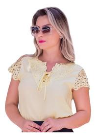 4c67021073cf Blusas Viscose Renda - Camisetas e Blusas Femininas com o Melhores ...