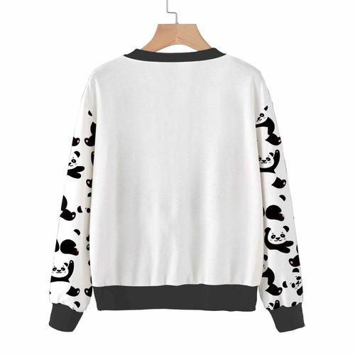 blusa feminina moletom fofa ursinhos panda gatinhos florais