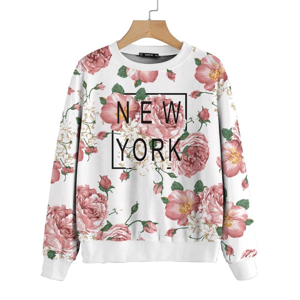 53941fb15c0 Blusa Feminina Moletom New York