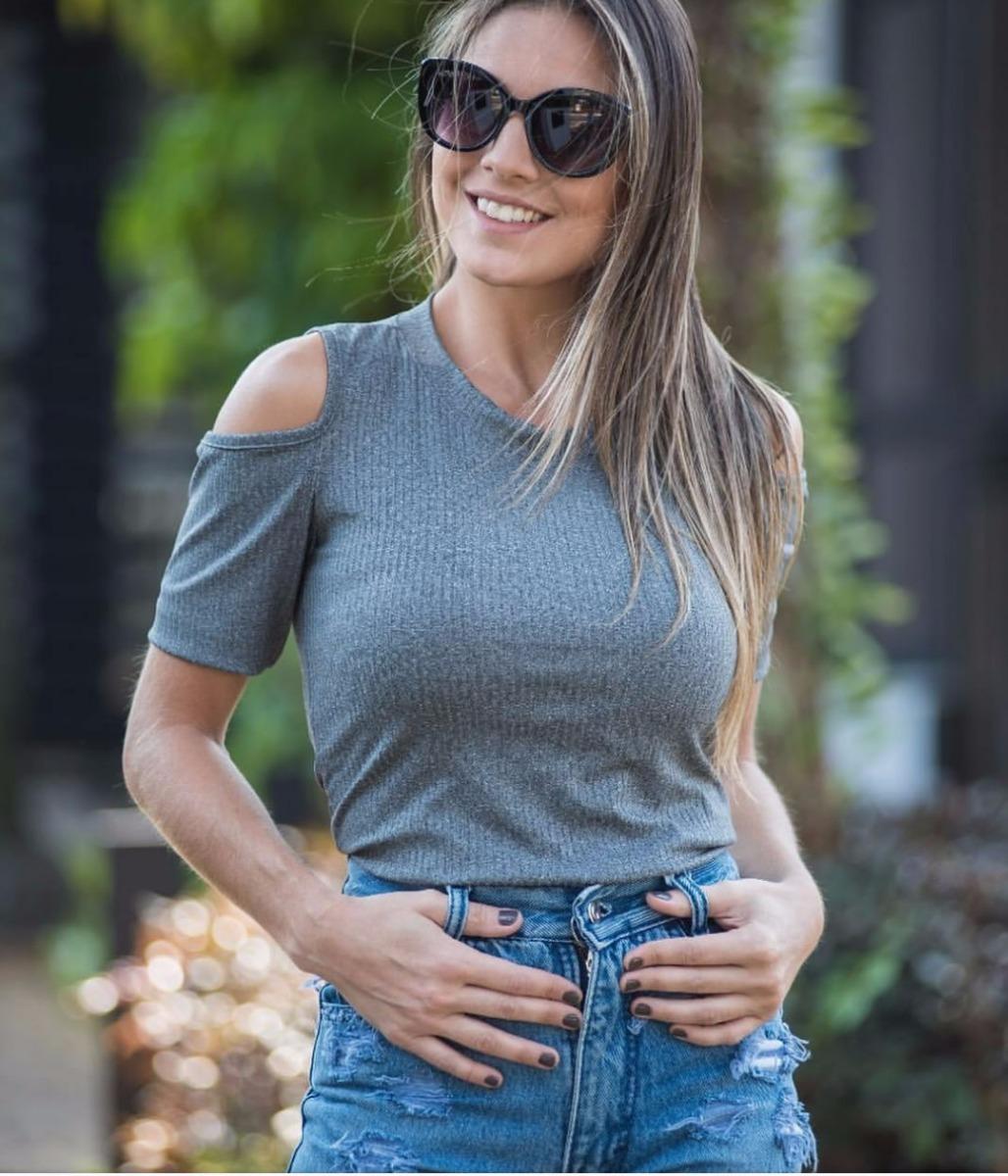 ddb09cda2 blusa feminina ombro vazado aberto verão 2018 moda instagram. Carregando  zoom.