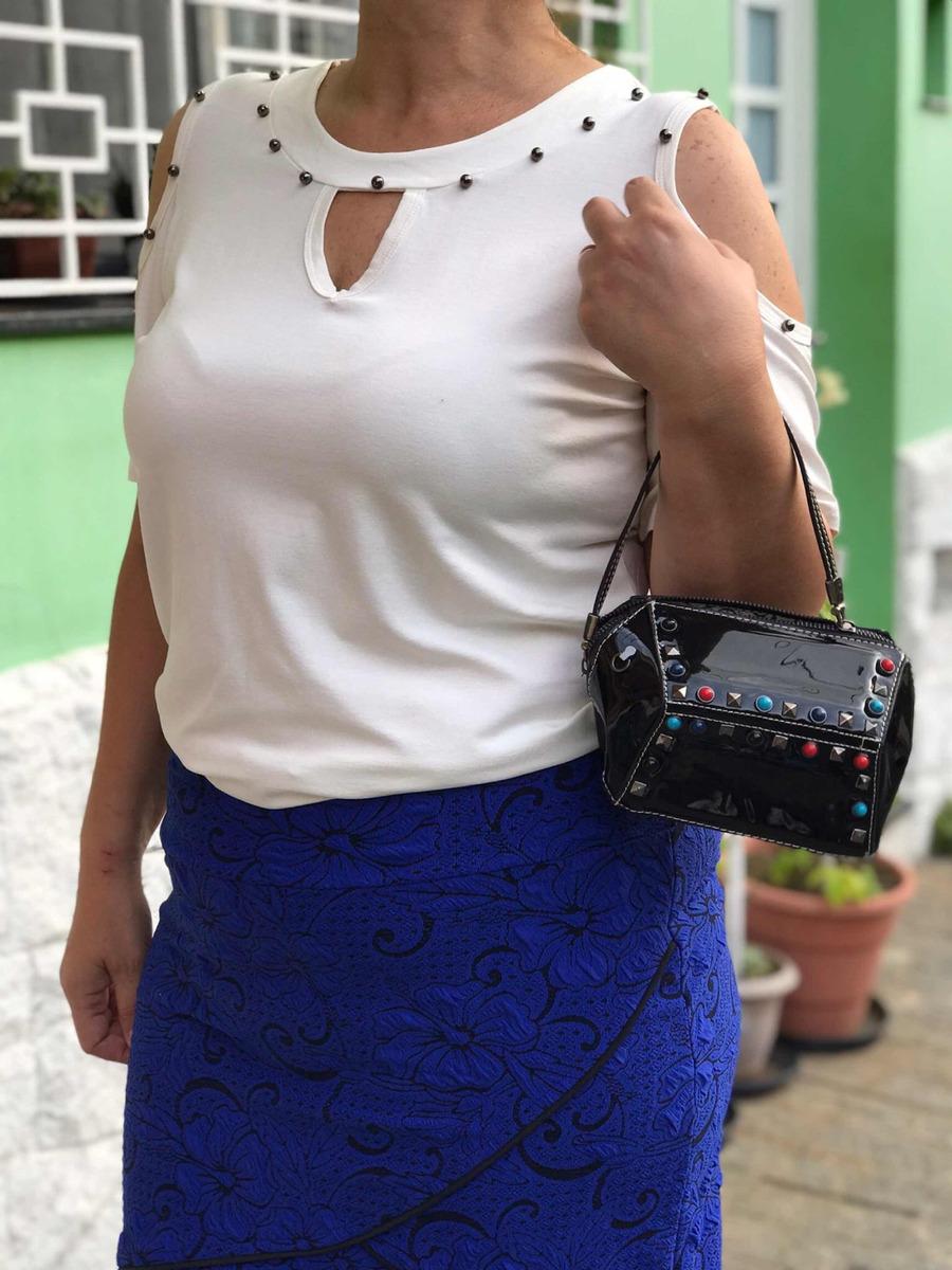 a53d470d0 blusa feminina plus size pedraria ombro vazado verao 2019. Carregando zoom.