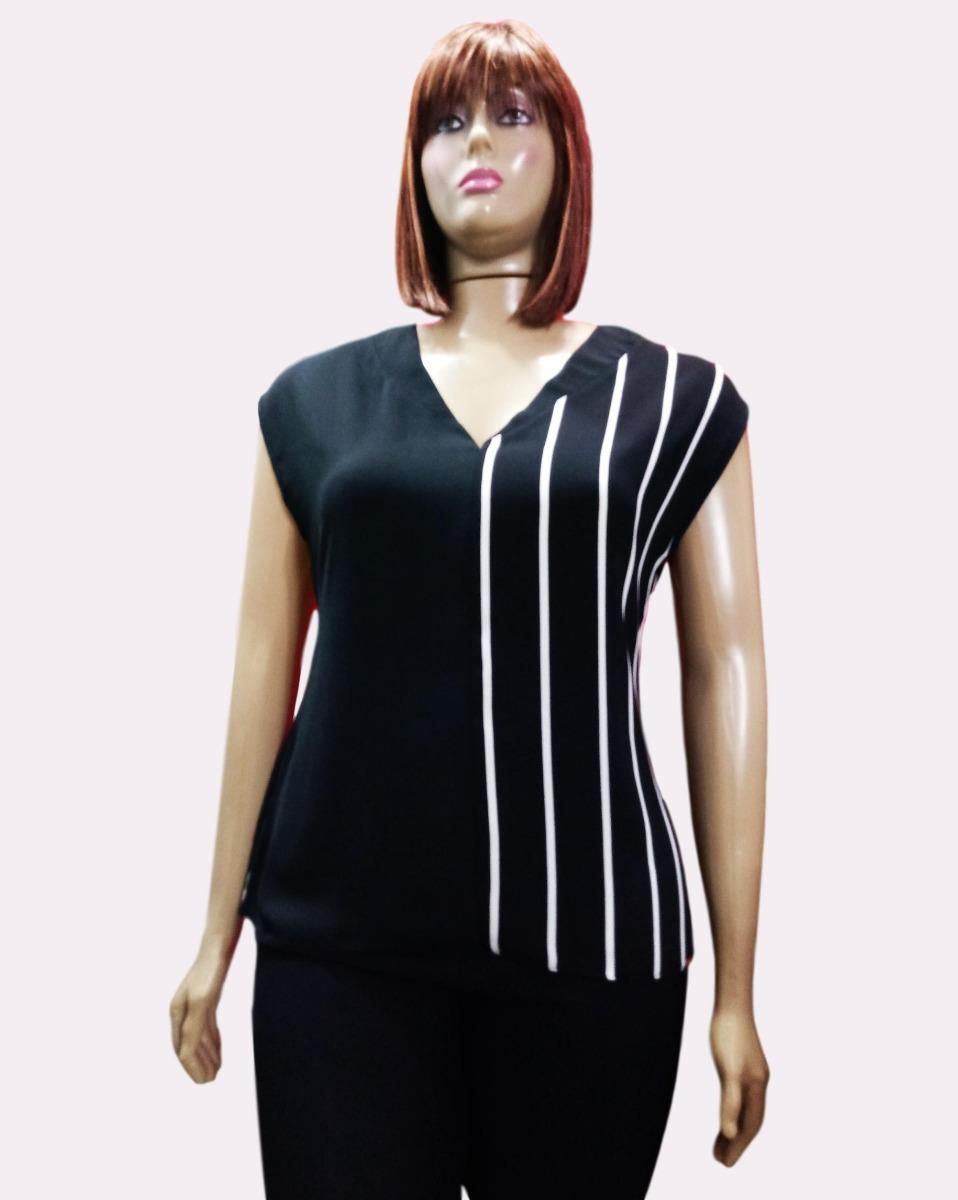 41099fde8f blusa feminina plus size soltinha listrada social festa-683. Carregando zoom .