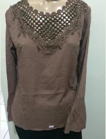 0008878f25 Bata Com Renda - Camisetas e Blusas para Feminino no Mercado Livre ...