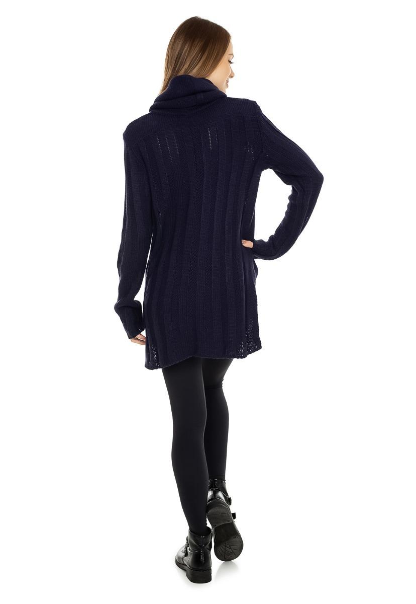 adad499c7a blusa feminina tricot tricô canelada gola alta mullet 5114. Carregando zoom.