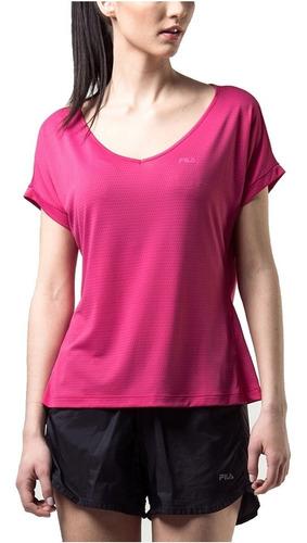 blusa fila fem dots camiseta escote en v remera de dama