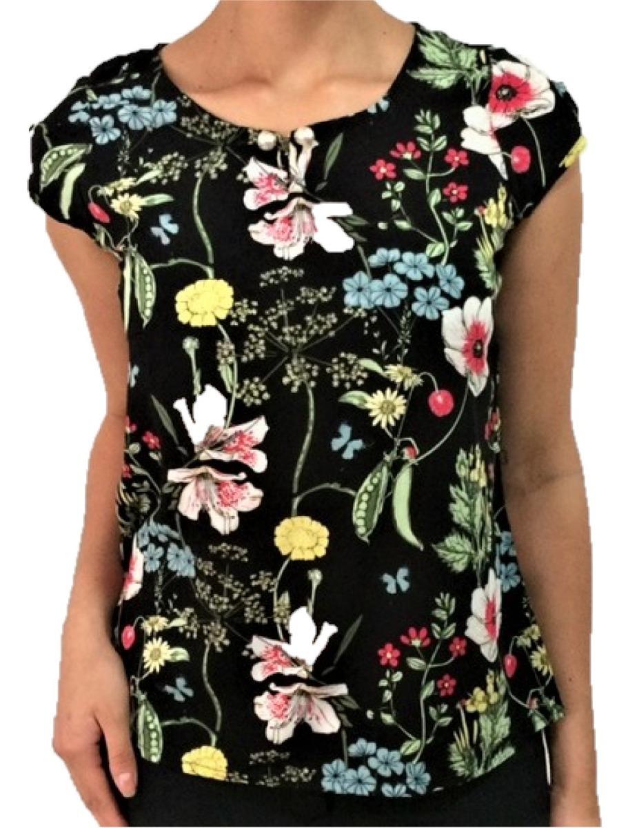 4a2ea94307 blusa floral em viscose moda evangélica com botão pérola. Carregando zoom.