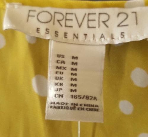 blusa forever 21 color limon