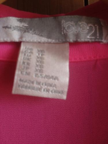 blusa forever21 color rosado