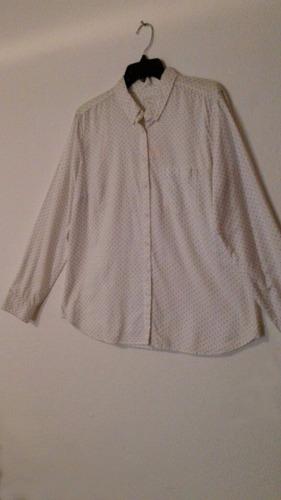 blusa formal marca gap talla grande color blanca