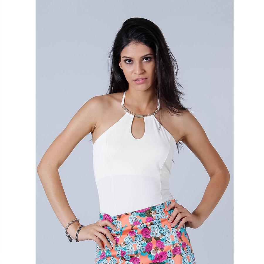 7a5d4f94d Blusa Frente Única Feminina Lara - Marfim - R$ 39,99 em Mercado Livre