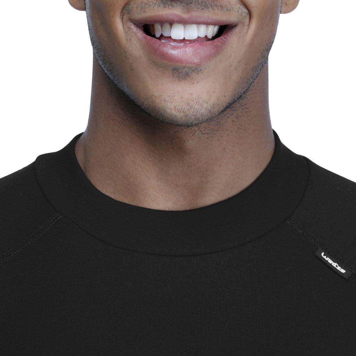 c8011576e2007 blusa frio masculina segunda pele isolamento térmico preta. Carregando zoom.