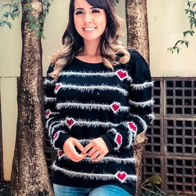12b613ac5 Blusas Trico Desenhos - Calçados, Roupas e Bolsas no Mercado Livre Brasil