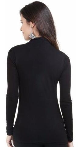 blusa gola alta feminina cacharrel manga longa