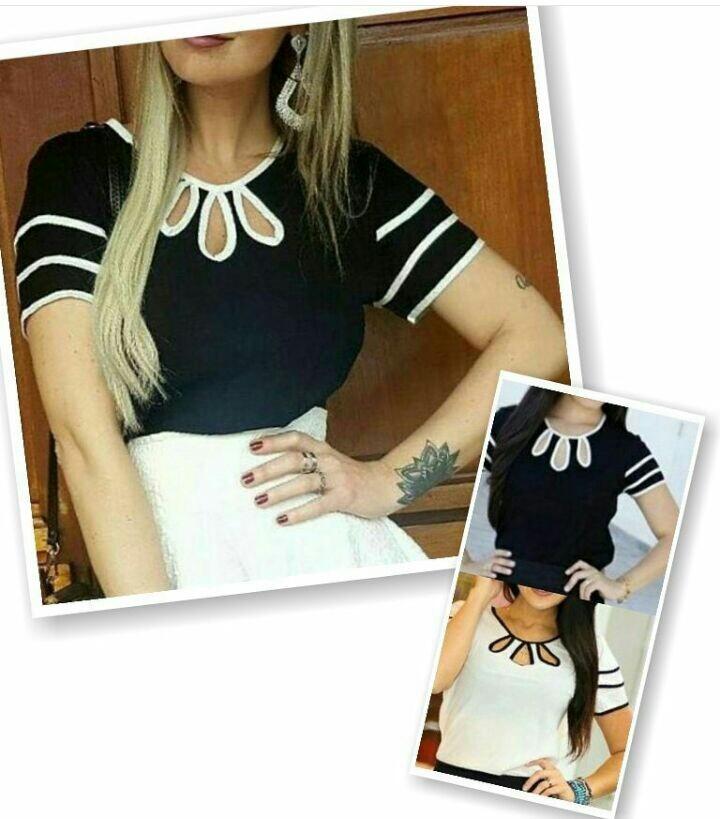 41aba6011 blusa gotas feminina com manga moda atual tendência 2018. Carregando zoom.