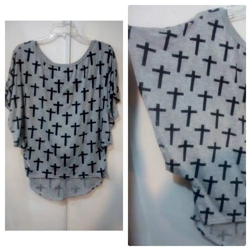 blusa grande xl halloween disfraz moda pastel goth punk rock