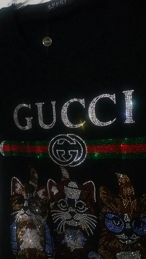 Blusa Gucci Cats Puedreira Bordada -   487.00 en Mercado Libre 432dd1a3c21