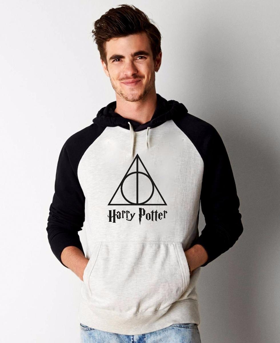 Blusa Harry Potter Moletom Raglan Canguru Com Capuz  R$ 79,90 em Mercado Livre -> Banheiro Feminino Harry Potter