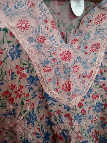blusa hippie gasa bordada talle large elegante fresca comodo