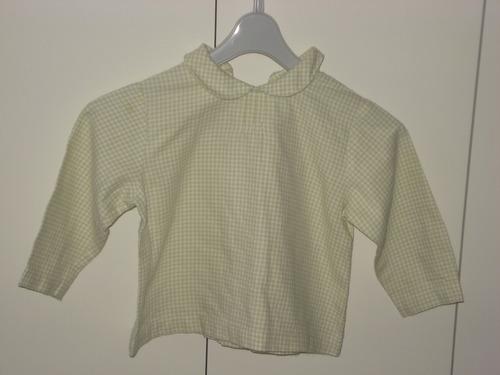 blusa infantil manga comprida xadrez