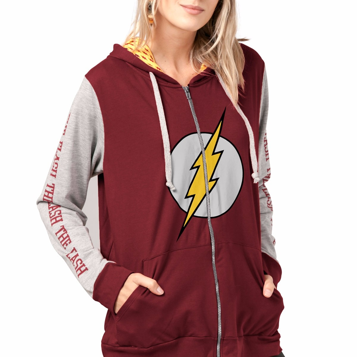 365ded5263 Blusa Jaqueta Em Moletom The Flash Logo Dc Comics Oficial - R  159 ...