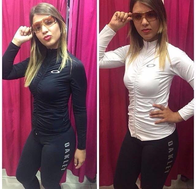 b8ae00aae3ad6 Blusa Jaqueta Oakley Feminino Fitness Academia Panicat - R  99