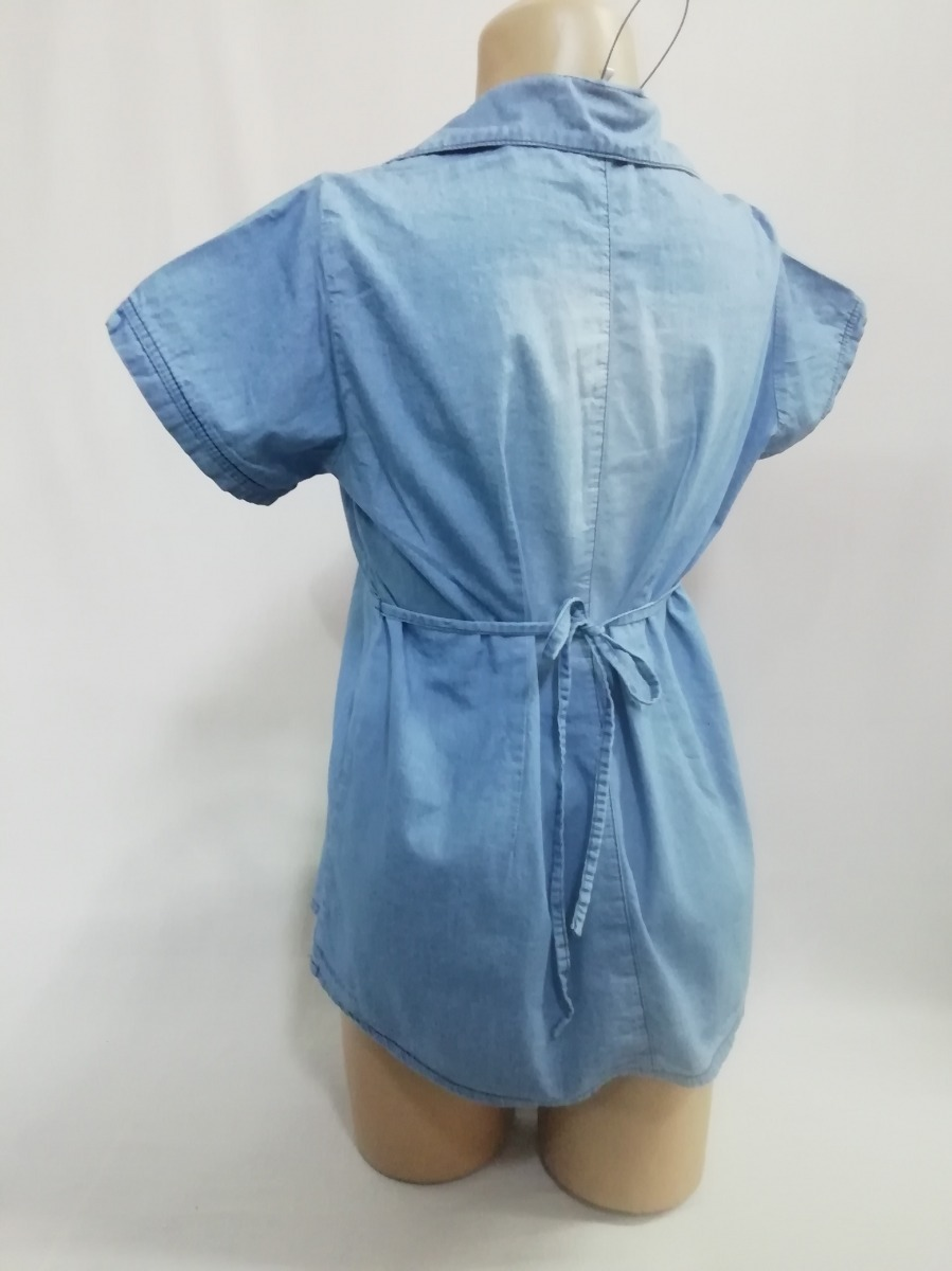 5ed4123e8 Blusa Jeans-ropa Materna-blusa Jeans Materna-ropa Embarazo ...