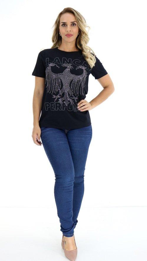 5b205e2d7 Blusa Lança Perfume T-shirt Preto Oi18 - R$ 297,00 em Mercado Livre