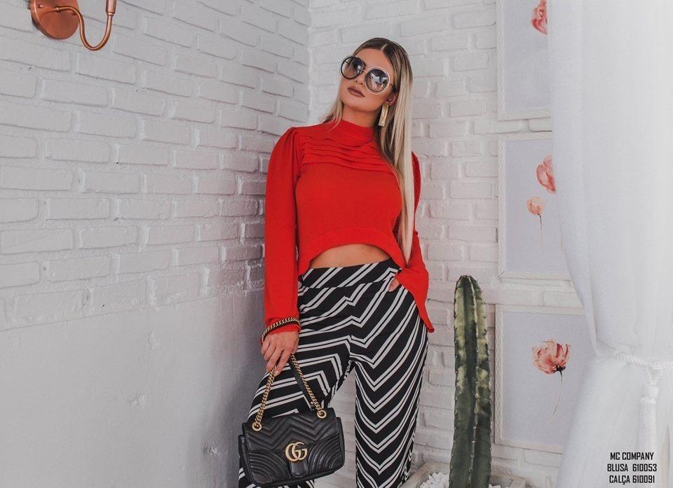558b320b73 blusa laranja - mc company moda feminina. Carregando zoom.
