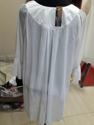 blusa larga de gasa