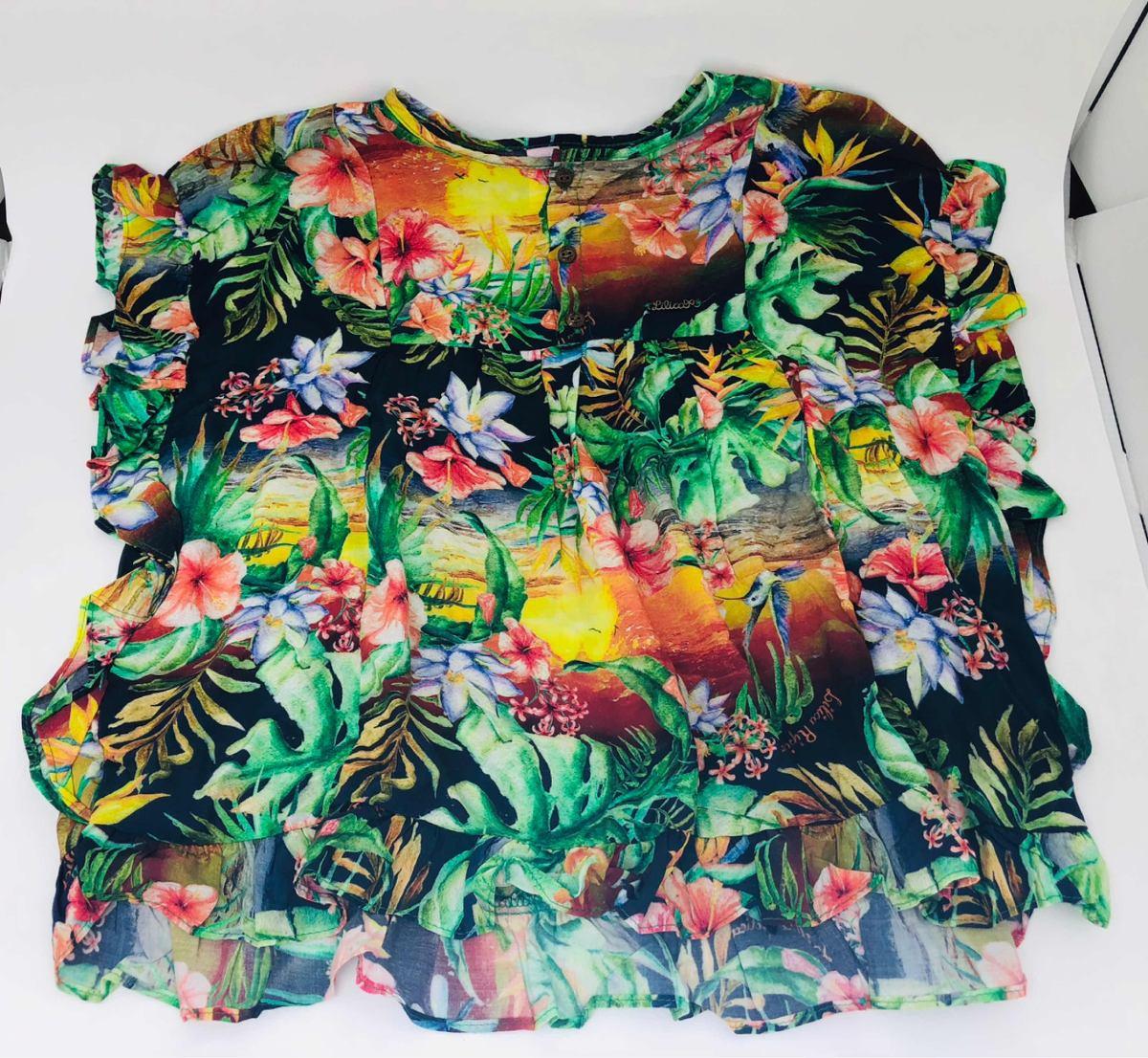 2a446d240 blusa lilica ripilica batinha estampada floral 30% off. Carregando zoom.