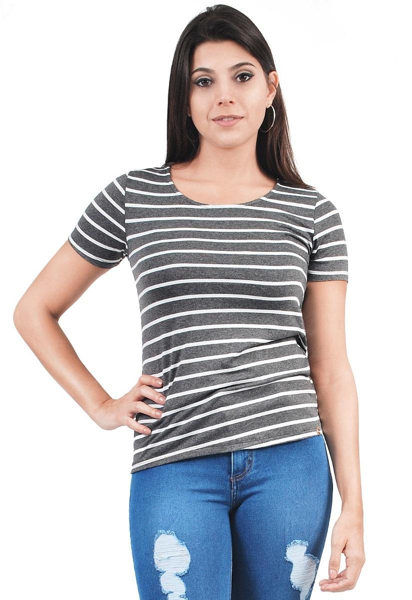 63d7f7bd0 Blusa Listrada Lunender Feminina - R$ 39,90 em Mercado Livre