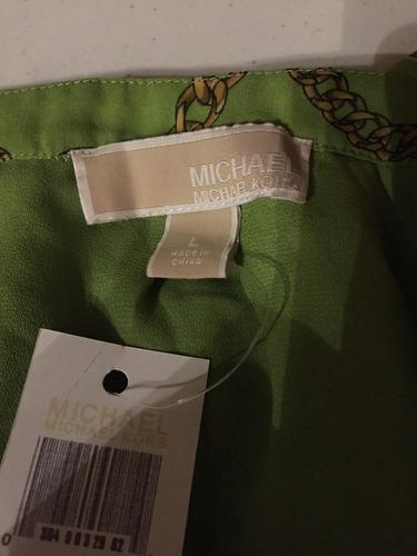 blusa logos michael kors nueva