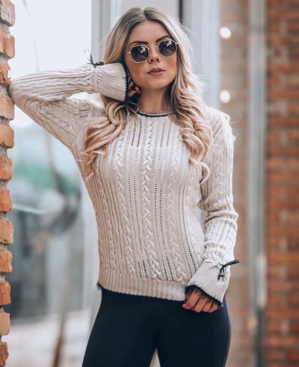 954563fd66 blusa malha tricô tricot novidade moda outono inverno 2019. Carregando zoom.