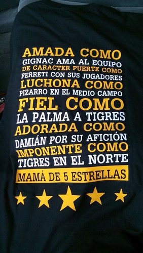blusa mamá incomparable y futbolera tigres