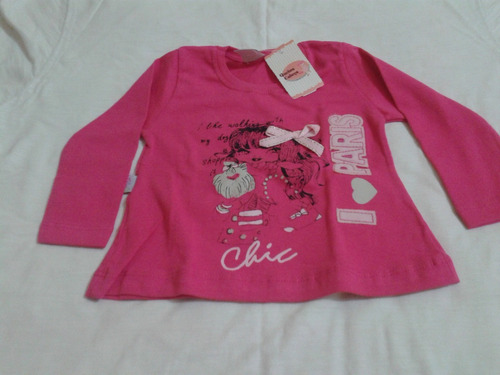 blusa manga comprida  infantil menina
