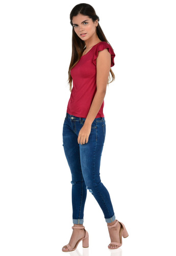 27da2828ea51 Blusa Manga Corta De Mujer Exotik Ew172-1102-842 Rojo