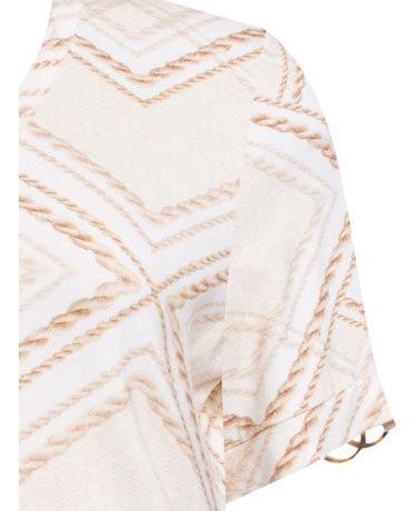 blusa manga curta estampa geométrica em viscose seiki 730198