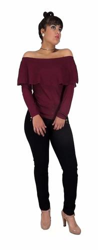 blusa manga larga boleros 002 vinotinto