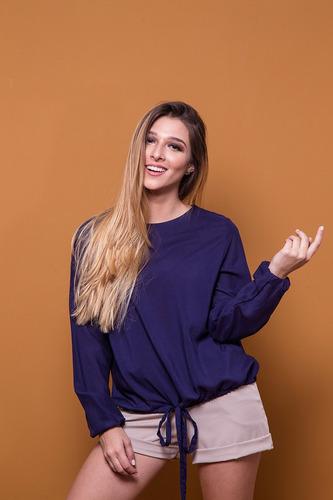 blusa manga larga cuello redondo universo
