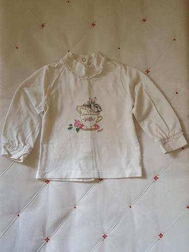 blusa manga longa chicco 12 meses coelho