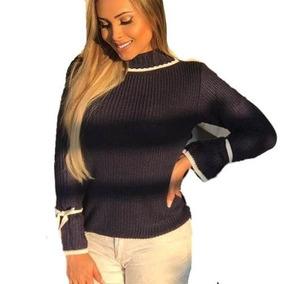 b922d40a8 Blusa Feminina Tricot Laços Trico Frio Moda Blogueira Insta - Calçados,  Roupas e Bolsas no Mercado Livre Brasil