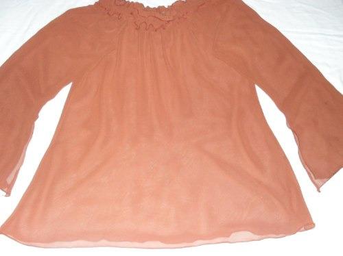blusa  marron tipo vual - tam. m