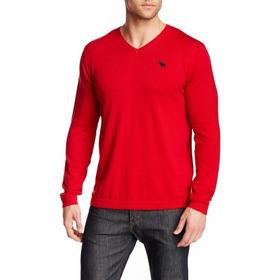 Blusa Masculina Abercrombie Original Importada Vermelho P20