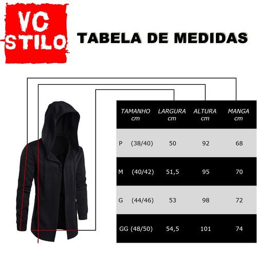 blusa masculina oversized vcstilo - moletom longline