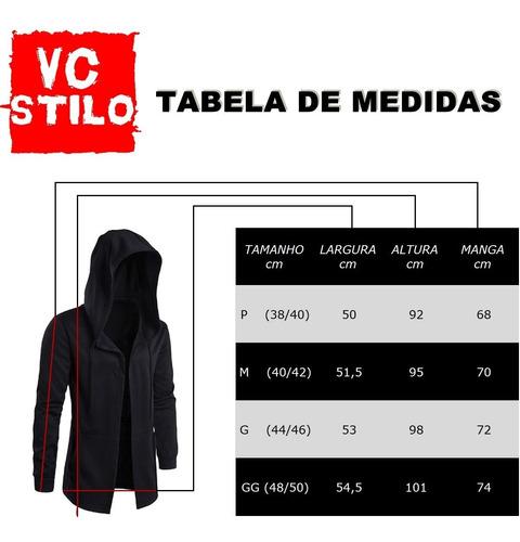 blusa masculina oversized vcstilo - moletom longline b21