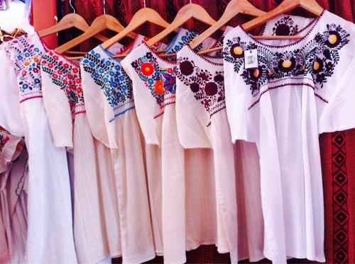 blusa mexicana bordada algodón