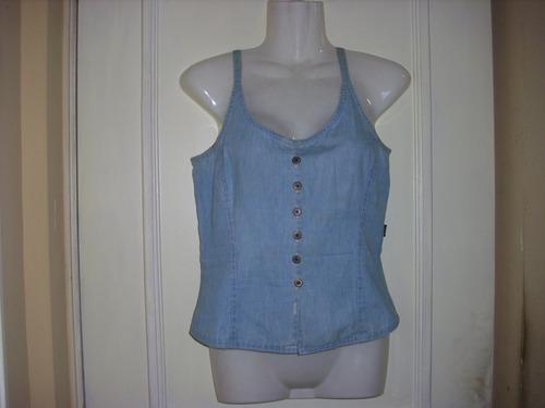 blusa mezclilla talla small tipo polera